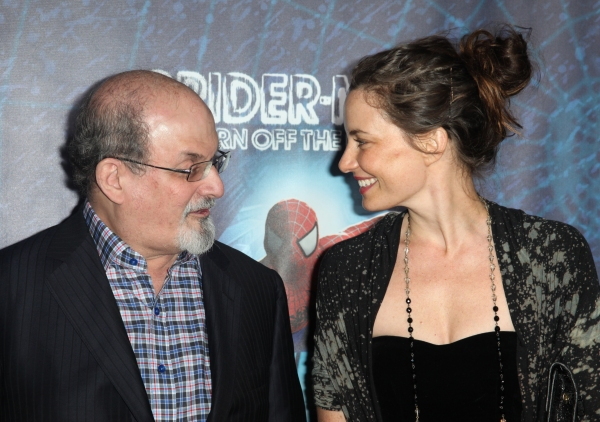 Salman Rushdie attending the Opening Night Performance of 'Spider-Man Turn Off The Dark' at the Foxwoods Theatre in New York City.