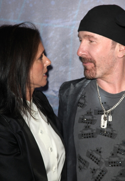 Julie Taymor & The Edge attending the Opening Night Performance of 'Spider-Man Turn Off The Dark' at the Foxwoods Theatre in New York City. at SPIDER-MAN Starry Arrivals - Part 2