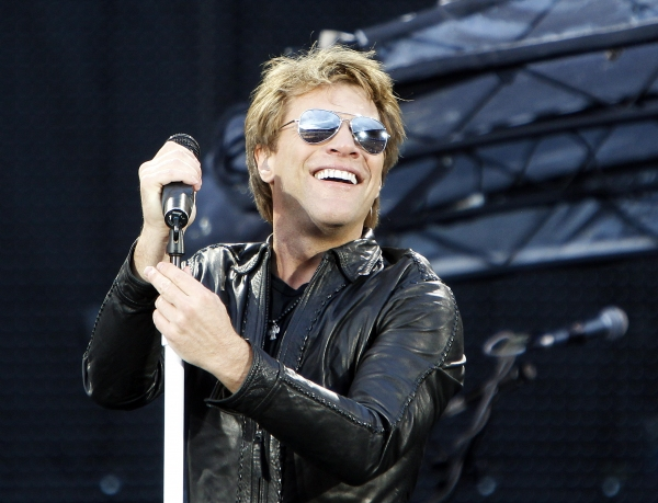 Jon Bon Jovi at Bon Jovi Plays Ullevaal Stadium