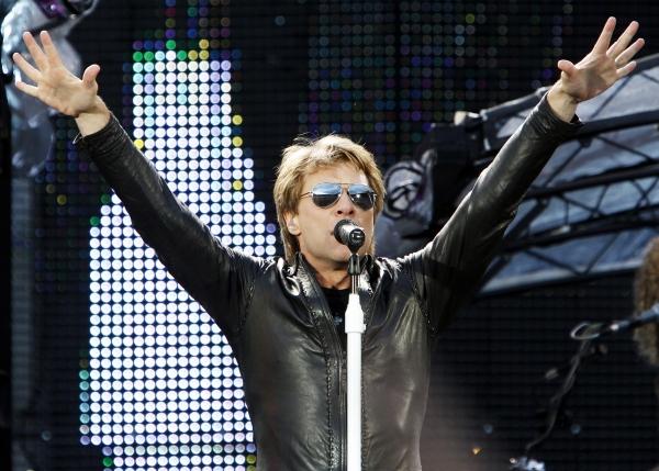 Jon Bon Jovi at Bon Jovi Plays Ullevaal Stadium