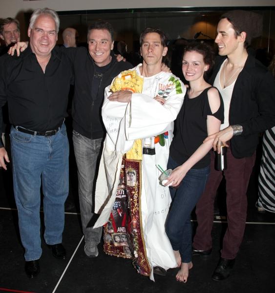 Michael Mulheren, Patrick Page, Joshua Kobak, Jennifer Damiano & Reeve Carney during  Photo