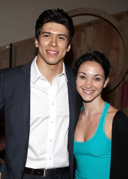Craig Henningsen & Natalie Lominte during the 'Spider-Man Turn Off The Dark' Opening Night Gypsy Robe Ceremony for Recepient Joshua Kobak at the Foxwoods Theatre in New York City.