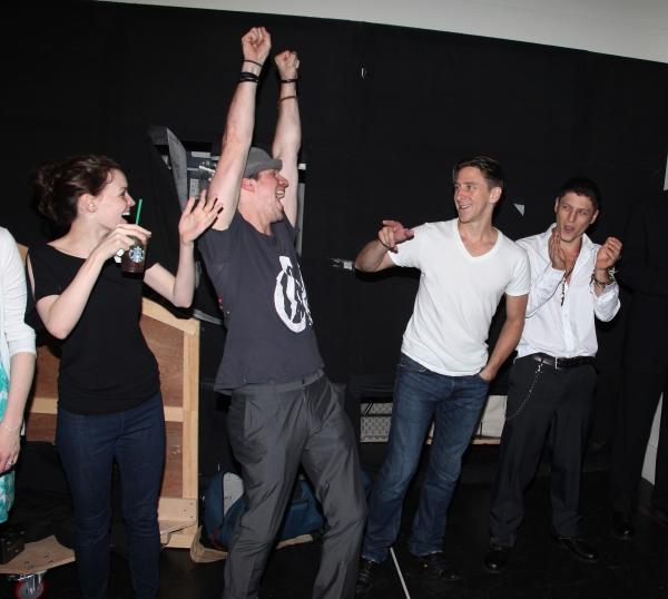 Jennifer Damiano, Christopher W. Tierney, Joshua Kobak & Ari Loeb during the 'Spider- Photo