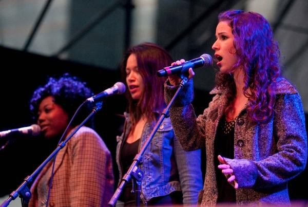 Katrina Reynolds, Melissa O'Neil and Chilina Kennedy from Stratford's Jesus Christ Superstar