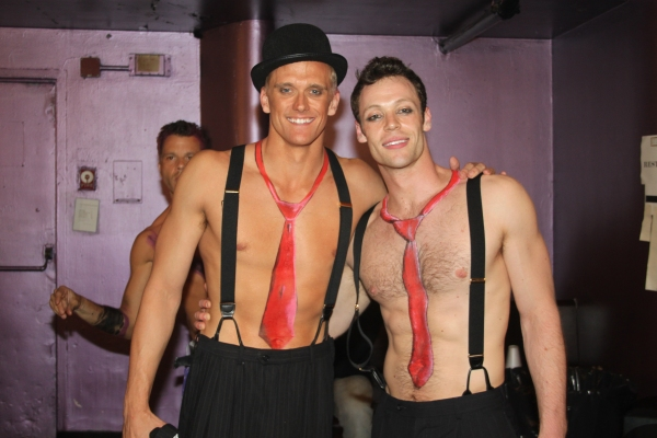 Adam Perry and Ryan Watkinson at Backstage at BROADWAY BARES XXI