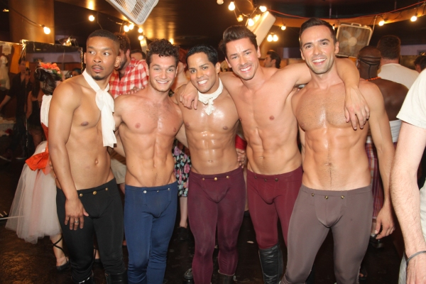 Lee Rob, Chris Messina, John Paul LaPorte, Adam Fleming and Patrick McCollum at Backstage at BROADWAY BARES XXI