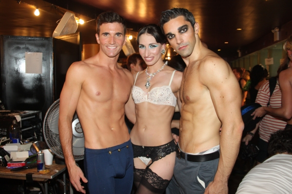 Charlie Sutton,  Nikka Graff Lanzarone and Peter Nelson at Backstage at BROADWAY BARES XXI