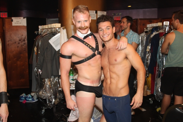 Andrew Glaszek and Chris Messina at Backstage at BROADWAY BARES XXI