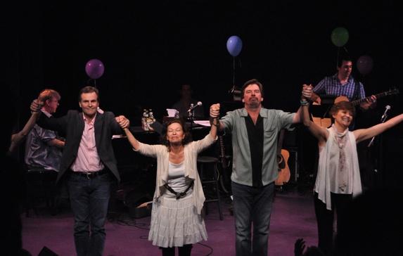 John Hilner, Gretchen Cryer, Scott Wakefield and Margot Rose