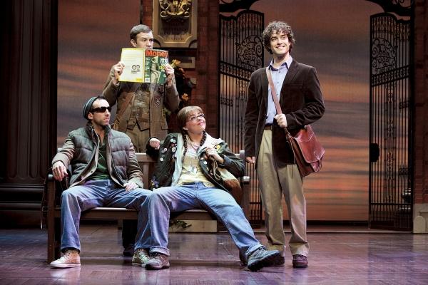 Stephane Anelli as Padamadan, Robbie Towns as Aaron, Suzie McAdam as Enid & Lee Mead Photo