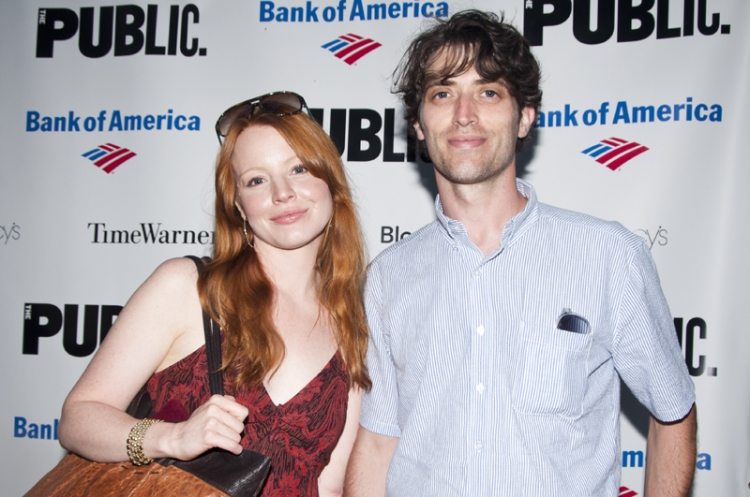 A fine example of a lovely couple; Lauren Ambrose and her husband Sam Handel
