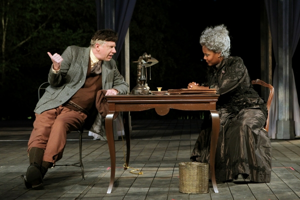 David Manis and Tonya Pinkins in All's Well That Ends Well, directed by Daniel Sullivan, running in rep thru July 30.