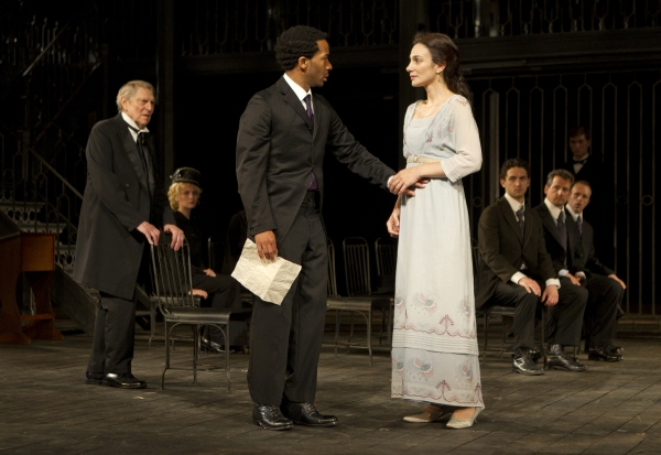 John Cullum, Andre Holland and Annie Parisse 