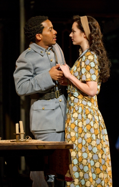 Andre Holland and Kristen Connolly at ALL'S WELL THAT ENDS WELL Production Shots!