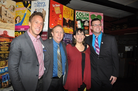 Michael West, Rick Crom, Christine Pedi and Tom D'Angora at Off Broadway Alliance Honors Busch, Halston & More!