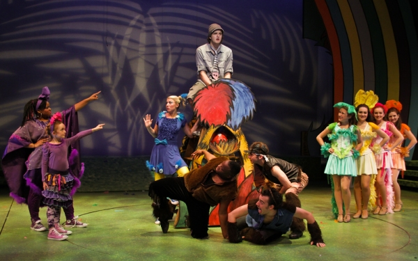 Christine Gavin and cast members of Seussical.