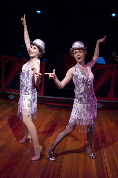 "Rin Allen as Velma Kelly and Charlotte Fox as Roxie Hart performing ""The Hot Honey Rag"""