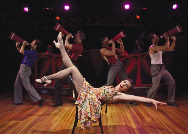 """Rin Allen as Velma Kelly with cast members performing """"When Velma Takes the Stand"""" Photo"""