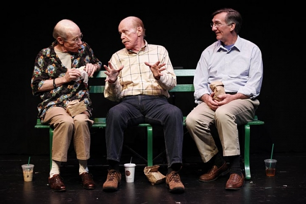 J.M. McDonough (Man Three), Kenneith Kimmins (Man One) and John Little (Man Two) in Neil LaBute's CRIPPLES