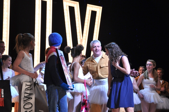 Caty Dougherty, Gregory Jbara and the cast of Billy Elliot