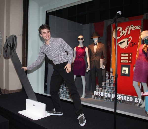 Photo Sneak Peek: Daniel Radcliffe et al. Unveil HOW TO SUCCEED-Themed Window Display at Lord & Taylor