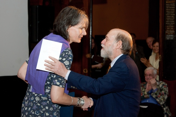 NYC Commissioner of Cultural Affairs congratulates Davis Shookhoff