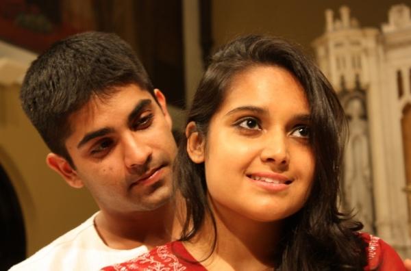 Vandit Bhatt as Romeo and Poonam Basu as Juliet Photo