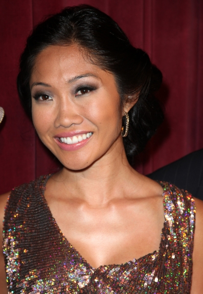 Julie Chang attending the Inside Broadway  2011 Broadway Beacon Awards at The Players Club in New York City.