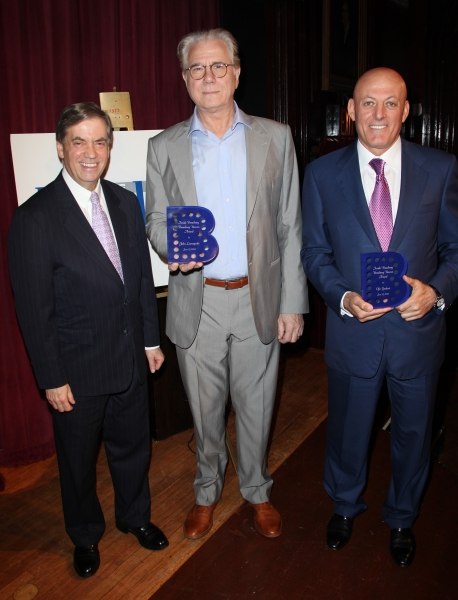 Michael Presser & John Larroquette & Ofer Yardeni attending the Inside Broadway  2011 Broadway Beacon Awards at The Players Club in New York City.