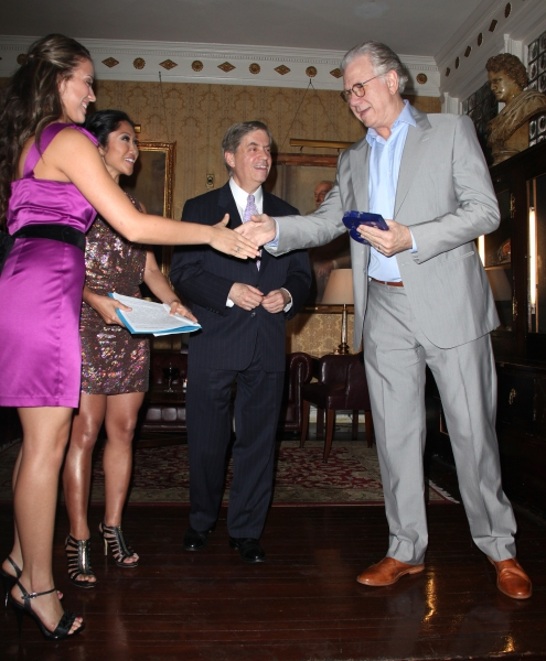 Julie Chang & Michael Presser & John Larroquette attending the Inside Broadway  2011 Broadway Beacon Awards at The Players Club in New York City.
