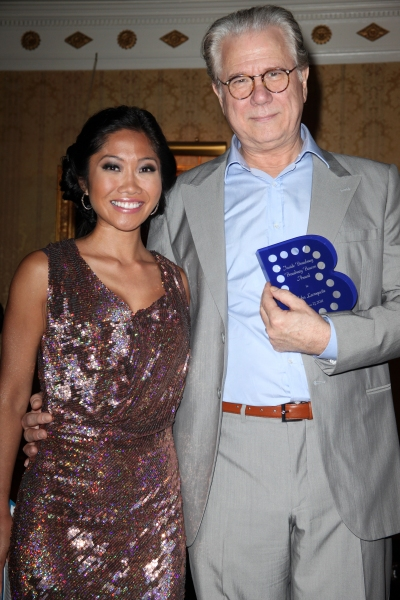 Julie Chang & John Larroquette attending the Inside Broadway  2011 Broadway Beacon Awards at The Players Club in New York City.