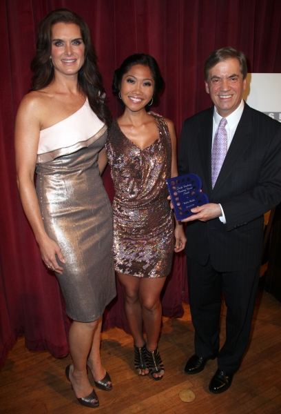 Brooke Shields, Julie Chang & Michael Presser attending the Inside Broadway  2011 Broadway Beacon Awards at The Players Club in New York City.