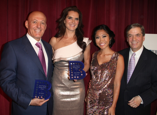 Ofer Yardeni, Brooke Shields, Julie Chang & Michael Presser attending the Inside Broadway  2011 Broadway Beacon Awards at The Players Club in New York City.