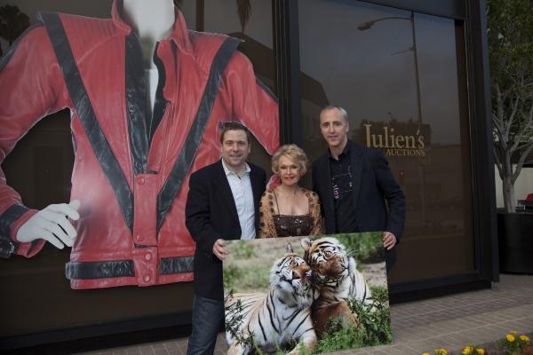 Darrin Julien, Tippi Hedren and Nolan Darrin