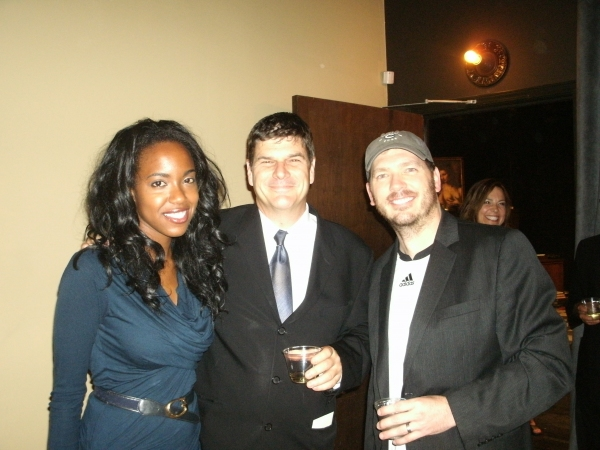 "Whitney White (�""Rita""), left; Richard Corley (Director), middle; and Brad Woodard (�""Frank"")"