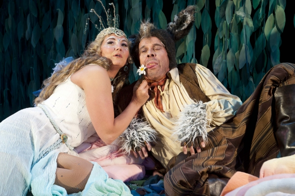 Kymberly Mellen (left) as Titania and Max Robinson as Nick Bottom