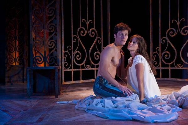Christian Barillas (left) as Romeo and Magan Wiles as Juliet