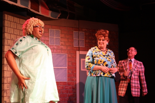 Genevieve Williams as Motor Mouth Maybelle, Jordan B. Stocksdale as Edna, and A.P. Ko Photo