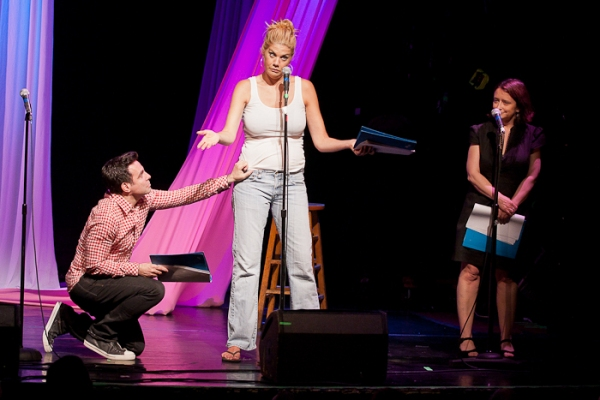 Mario Cantone, Kristen Johnston, and Rachel Dratch at Michael Urie, Kristen Johnston & More in CELEBRITY AUTOBIOGRAPHY - The Show