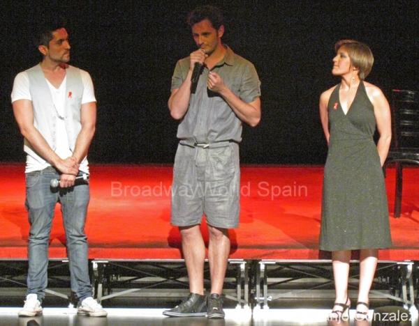 Jorge Garrido, Asier Etxeandia y Rocio Bilbao