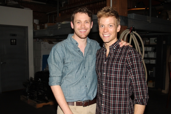 Michael Arden and Barret Foa at Janet Dacal, Barrett Foa, Tracie Thoms, Michael Arden & More at FOR THE RECORD:JOHN HUGHES Concert!
