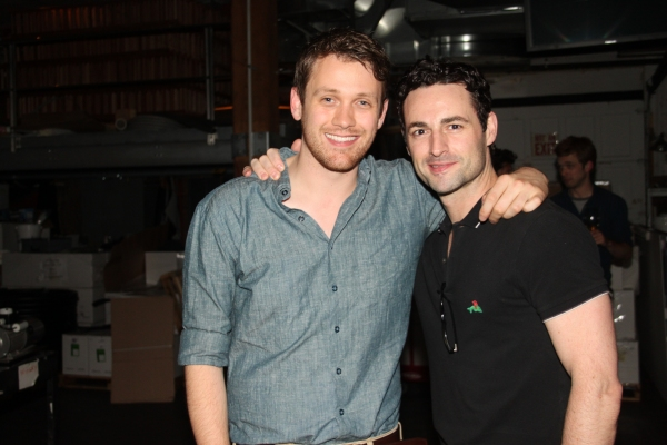 Michael Arden and Max von Essen at Janet Dacal, Barrett Foa, Tracie Thoms, Michael Arden & More at FOR THE RECORD:JOHN HUGHES Concert!