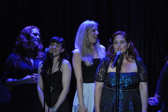 Celina Carvajal, Emily McNamara and Shanna Sharp at Chase, Andreas et al. Sing for RAINN Benefit