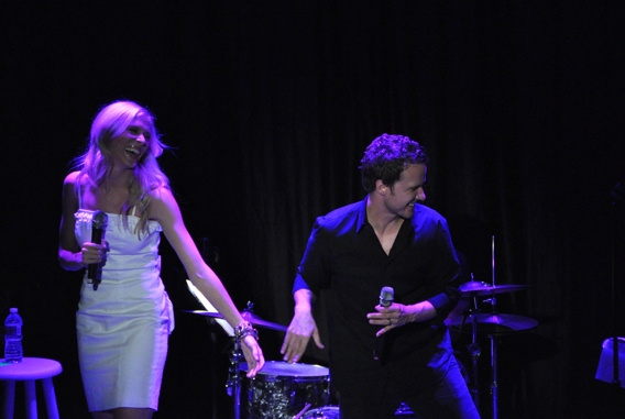 Stephanie Gibson and Will Chase at Chase, Andreas et al. Sing for RAINN Benefit