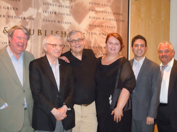 Andre Bishop, Sheldon Harnick, Richard Maltby Jr, Michelle Elliott, Adam Gwon, Elliot H. Brown at Adam Gwon, Michelle Elliott Win 2011 Kleban Prizes