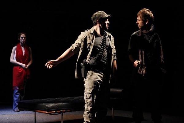 Marina Squerciati as Cristina, Gabriel Furman as Alejandro and Brendan McMahon as Poeta