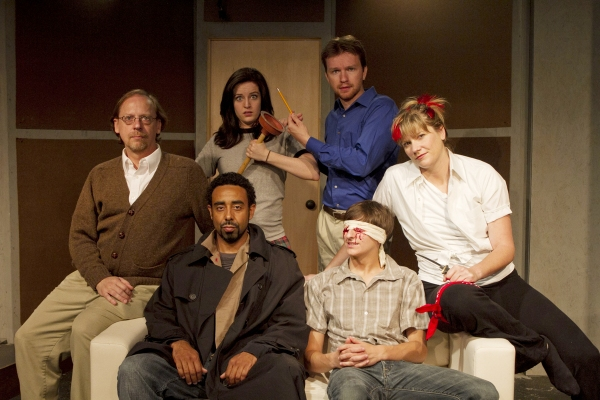 Greg Howard (Dad), Ben Rose (Marcus), Lisa Ermel (Margaret), Nick Carpenter (Halbick), Matthew Van Oss (John Boy) and Karen Irwin