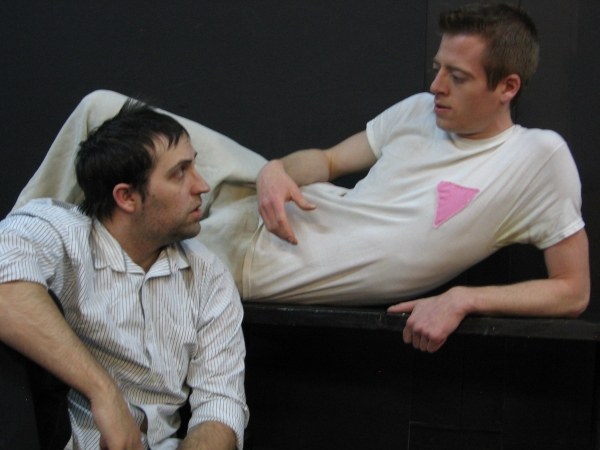 Kyle LaBoria as Max (L) and Dirk Gaboriault as Horst (R)