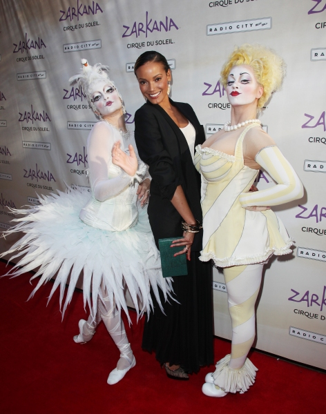Selita Banks and Characters of Zarkana attending the Opening Night Performance of The New Cirque Du Soleil Acrobatic Spectacle 'Zarkana'  in New York City.