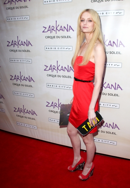 Lydia Hearst attending the Opening Night Performance of The New Cirque Du Soleil Acrobatic Spectacle 'Zarkana'  in New York City.
